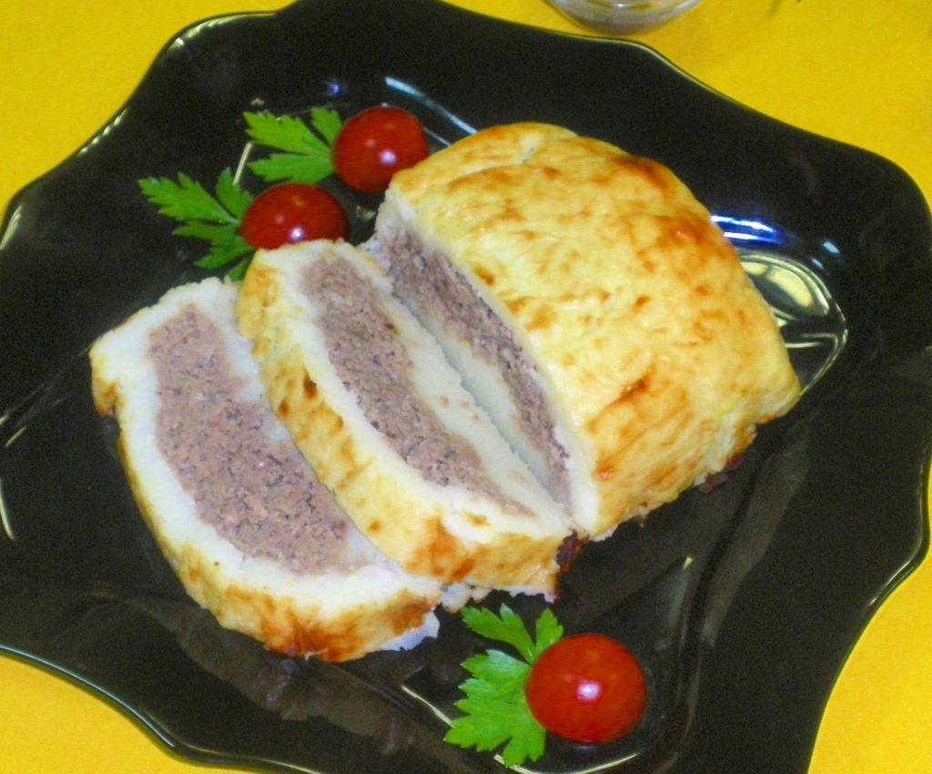 Рецепт рулет картофельный с мясом