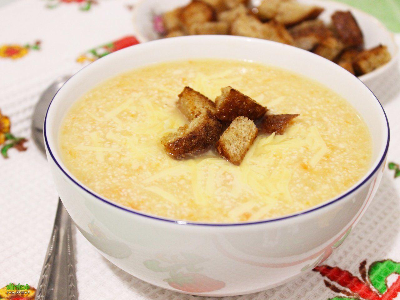 Суп пюре из курицы и сыра пошаговое